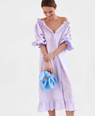 Sleeper Loungewear Dress in Lavender