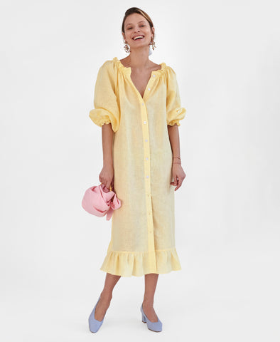 Sleeper Loungewear Dress in Lemon