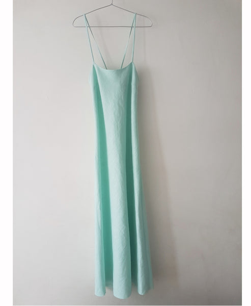 Luna Mint Linen Slip Dress Studio B Fashion x Johanna Sands - Exclusive Linen Summer Dress Capsule