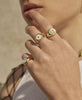 Wilhelmina Garcia - Gold Clover Ring - Studio B Fashion