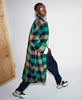 Munthe. Talinum Coat Green Check Brushed Wool. Studio B Fashion