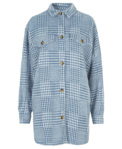 Munthe Edmond Blue Check Shirt Jacket