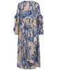 Munthe - Julia Dress Blue Leopard Inspired Print - Studio B Fashion