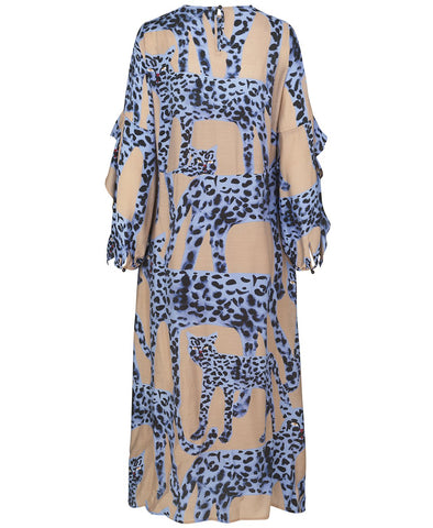 Munthe Julia Dress Blue Leopards