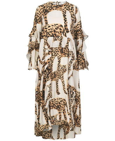Munthe Julia Dress Camel Leopards