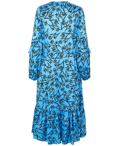 Munthe Justin Dress Turquoise Flower