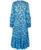 Munthe - Justin Dress Turquoise Flower Pattern - Studio B Fashion