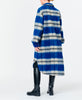 Munthe. Satara Outerwear Long Coat Indigo Check. Studio B Fashion