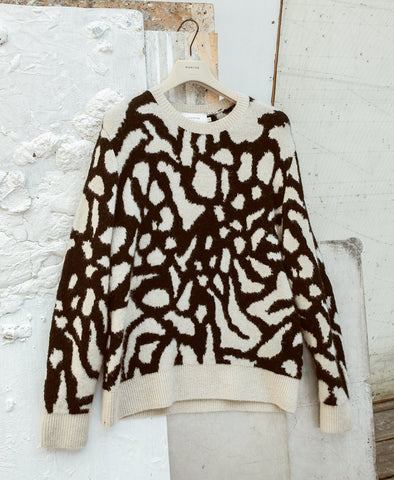 Munthe Ethen Patterned Knit Sweater