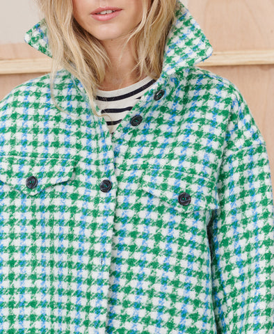 Munthe Target Shacket Green Check