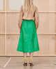 Munthe. Tatu Skirt Green Leather. Studio B Fashion