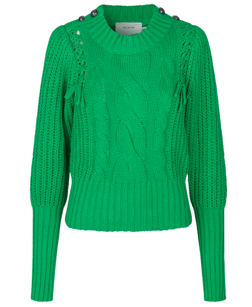 Munthe. Turner Knit Sweater Bright Grass Green. Studio B Fashion