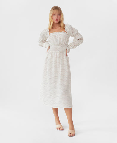Sleeper Michelin Linen Dress in Garden Rose