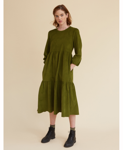 Moss Corduroy Mill Town Dress