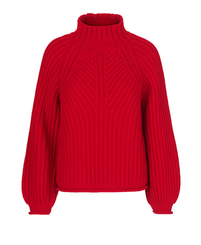 Nicholas Knit Jumper Red