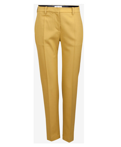 Narda Cropped Tailored Pants Olive Oil Yellow
