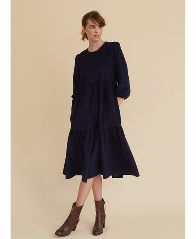 Navy Corduroy Mill Town Dress