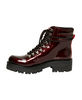 Pando Burgundy Patent Ankle Boots