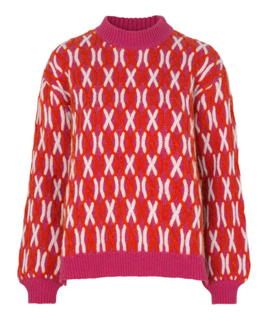 Stine Goya Anders Cable Knit Pink