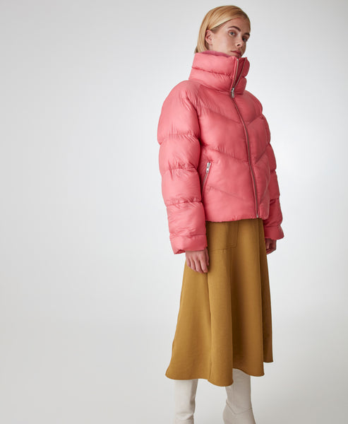 Gestuz- Rapture Rose JoyleeGZ Outerwear Puffa Jacket -Studio B Fashion