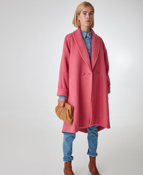 Gestuz - Rapture Rose DavinaGZ Outerwear Pink Coat - Studio B Fashion