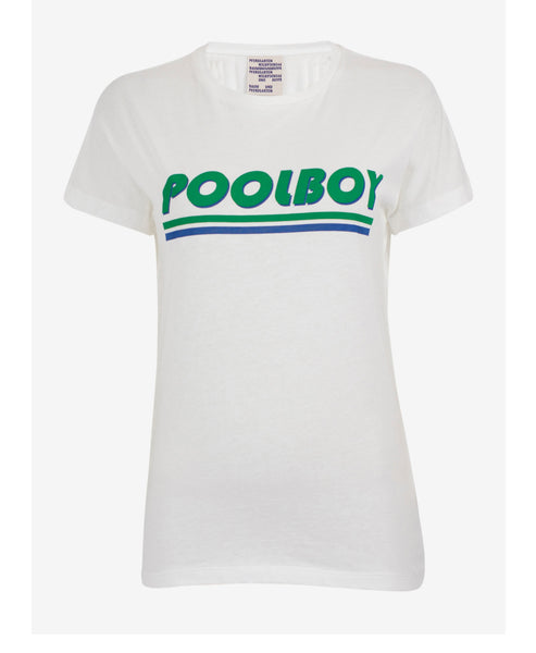 Baum und Pferdgarten- Eira Pool Boy Slogan Tee - Studio B Fashion