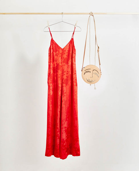 Gestuz - Settia Jacquard Red Rose Jumpsuit - Studio B Fashion
