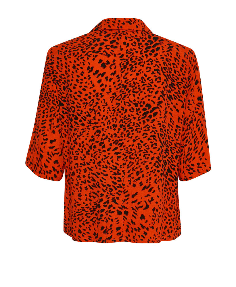 f18dc4099 ... Gestuz - Loui Red Leopard Print Button Front Top Back shot - Studio B  Fashion ...