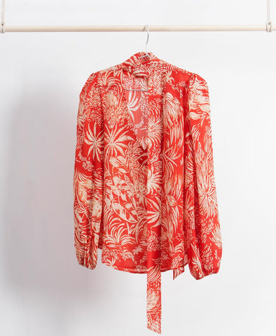Moss Oriental Jungle Blouse