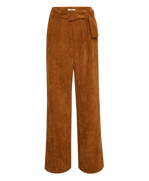 Gestuz - Roy Wide Leg Brown Corduroy Pants - Studio B Fashion