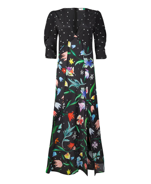 Rixo London - Martha Mixed Tulip Spot Midi Dress - Studio B Fashion