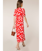 Rixo London - Shauna Abstract Daisy Red Midi Dress - Studio B Fashion