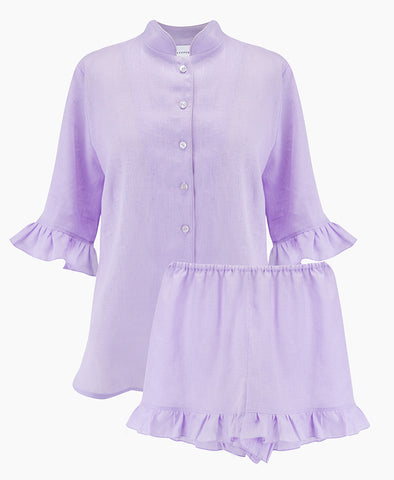 Sleeper Lavender Linen Lounge Suit