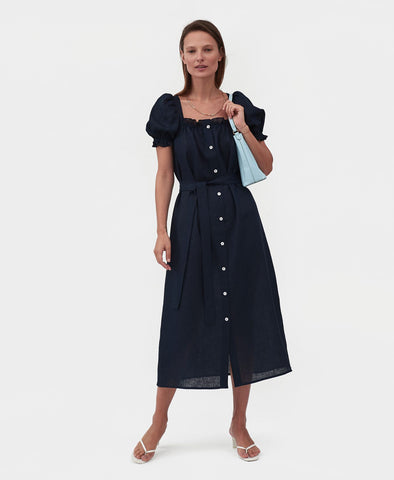 Sleeper Maxi Dress Brigitte in Navy