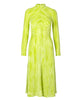 Stine Goya. Asher Dress in Wave Lime Velvet Devoré. Studio B Fashion