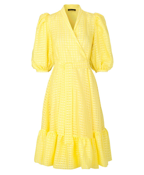 Stine Goya. Chinie Wrap Dress Marigold Yellow. Studio B Fashion