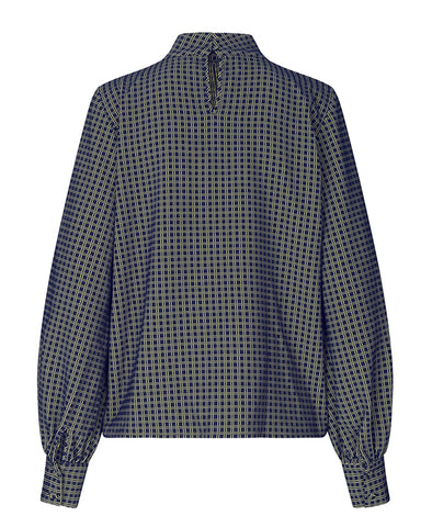 Stine Goya Eddy Top Grid Print