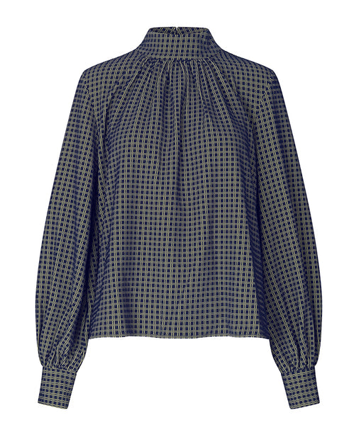 Stine Goya.  Eddy Top in Grid Print Small Checks. Studio B Fashion