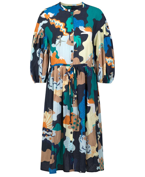 Stine Goya. India Dress Landscape Print. Studio B Fashion
