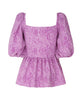 Stine Goya - Irene Peplum Top Pink Snakeskin - Studio B Fashion