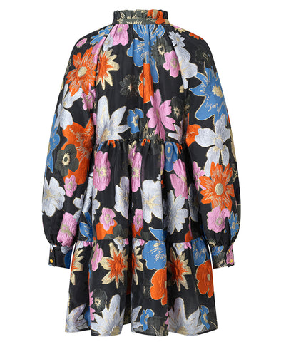 Stine Goya Jasmine Dress Botanical Embroidered Print