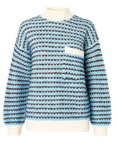 Stine Goya Nalin Sweater Sand & Blue