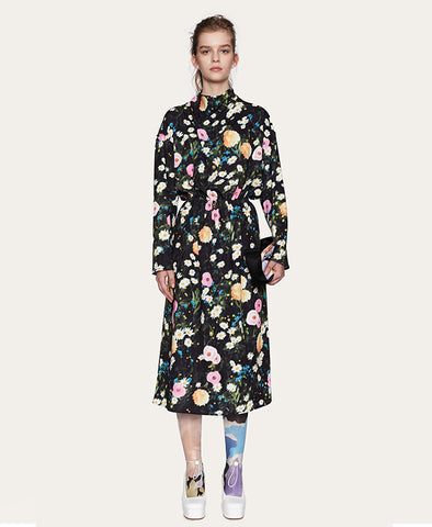 Stine Goya Jay Dress Poppy Flowers Print