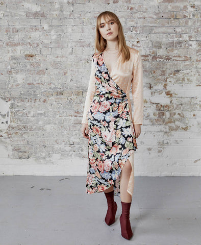 Betty Mixed Floral Polka Spot Dress