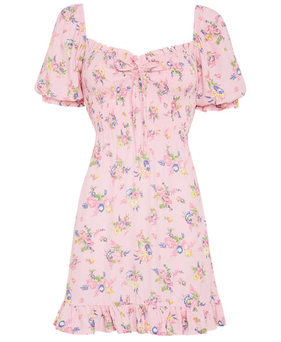 Faithfull Sage Mini Dress Juliette Floral Pink