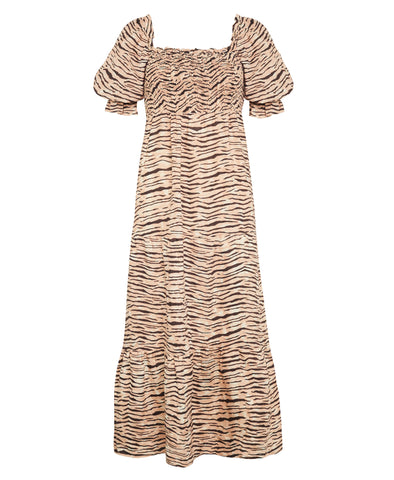 Faithfull De Christin Midi Dress Wyldie Animal