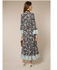 Rixo London - Skylar Mixed Daisy Blue Midi Dress - Studio B Fashion