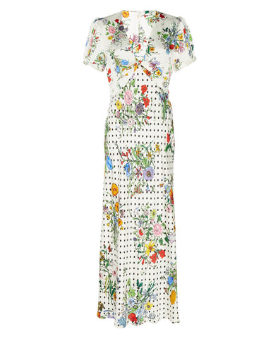 Star English Floral Spot Midi Dress