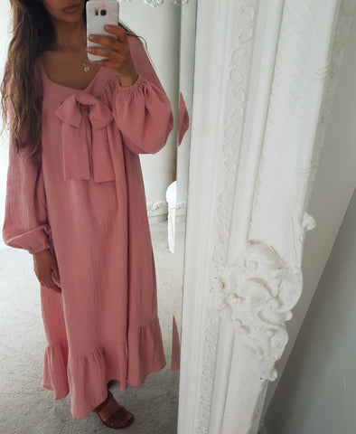 Stella Pink Cotton Gauze Dress