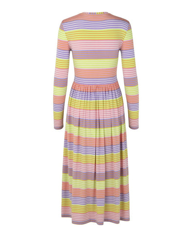 Stine Goya Joel Jersey Dress Pastel Stripes